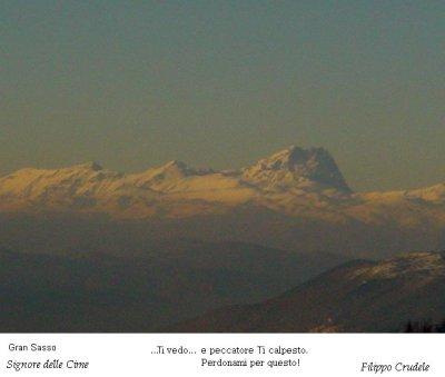 Panorama dalla Majella sul Gran Sasso (15510 bytes)