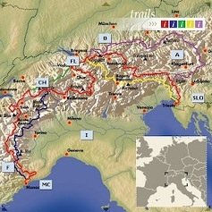 Profile of the different paths on the Via Alpina