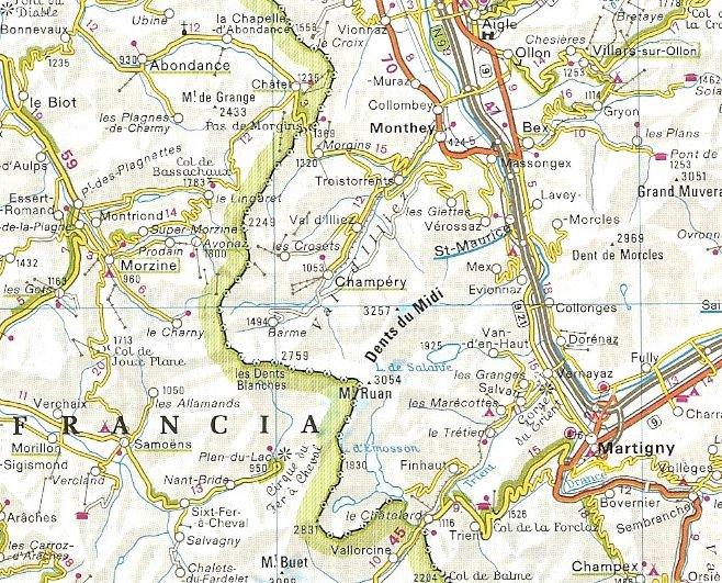 La Cartina Geografica Della Svizzera.Alcune Schede Di Ferrate Recenti Via Ferrata Di Tiere A Champery In Val D Illiez Vallese Chablais Svizzera