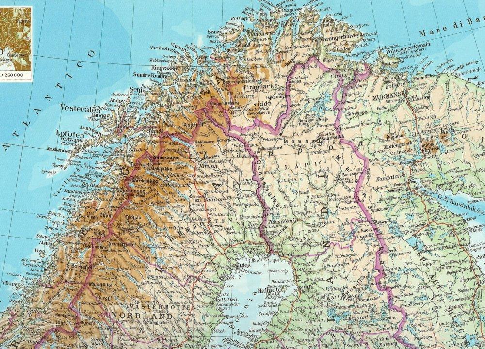 Cartina Geografica Norvegia Fisica.Sci Di Gran Fondo Nella Lapponia Finlandese